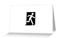 Running Man Exit Sign Greeting Card 52