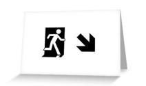 Running Man Exit Sign Greeting Card 54