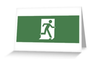 Running Man Exit Sign Greeting Card 6