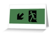 Running Man Exit Sign Greeting Card 61