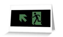 Running Man Exit Sign Greeting Card 62