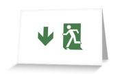 Running Man Exit Sign Greeting Card 73