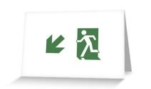 Running Man Exit Sign Greeting Card 74
