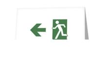 Running Man Exit Sign Greeting Card 76
