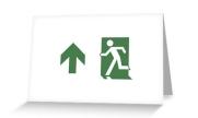 Running Man Exit Sign Greeting Card 77