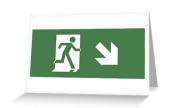 Running Man Exit Sign Greeting Card 8