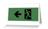 Running Man Exit Sign Greeting Card 83