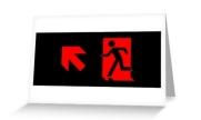 Running Man Exit Sign Greeting Card 88