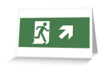 Running Man Exit Sign Greeting Card 9