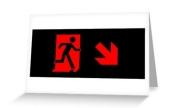 Running Man Exit Sign Greeting Card 92