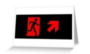 Running Man Exit Sign Greeting Card 93