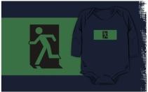 Running Man Exit Sign Kids T-Shirt 1