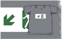 Running Man Exit Sign Kids T-Shirt 100