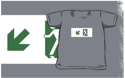 Running Man Exit Sign Kids T-Shirt 100