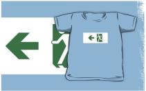 Running Man Exit Sign Kids T-Shirt 102