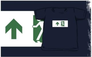 Running Man Exit Sign Kids T-Shirt 103