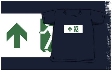 Running Man Exit Sign Kids T-Shirt 103