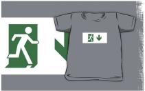 Running Man Exit Sign Kids T-Shirt 105