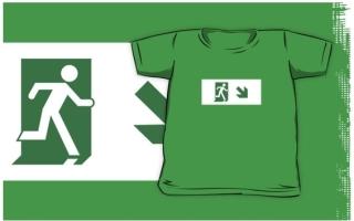 Running Man Exit Sign Kids T-Shirt 106