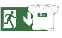 Running Man Exit Sign Kids T-Shirt 107