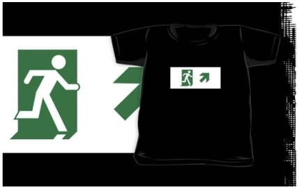 Running Man Exit Sign Kids T-Shirt 108