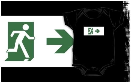 Running Man Exit Sign Kids T-Shirt 109