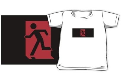 Running Man Exit Sign Kids T-Shirt 113