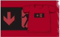 Running Man Exit Sign Kids T-Shirt 114