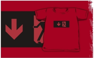 Running Man Exit Sign Kids T-Shirt 114