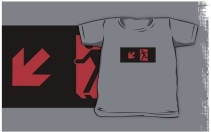 Running Man Exit Sign Kids T-Shirt 115