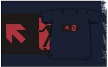 Running Man Exit Sign Kids T-Shirt 116