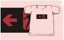 Running Man Exit Sign Kids T-Shirt 117