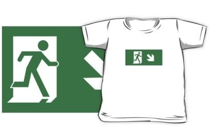 Running Man Exit Sign Kids T-Shirt 118