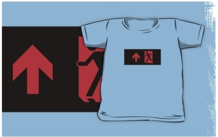 Running Man Exit Sign Kids T-Shirt 119
