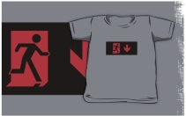 Running Man Exit Sign Kids T-Shirt 120
