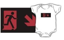 Running Man Exit Sign Kids T-Shirt 121