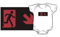 Running Man Exit Sign Kids T-Shirt 121