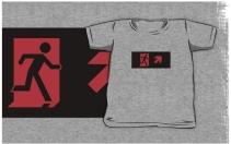 Running Man Exit Sign Kids T-Shirt 122