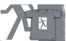 Running Man Exit Sign Kids T-Shirt 124