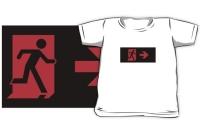 Running Man Exit Sign Kids T-Shirt 125