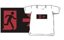 Running Man Exit Sign Kids T-Shirt 125