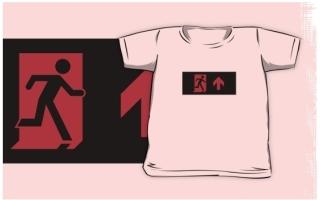 Running Man Exit Sign Kids T-Shirt 126