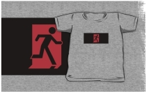 Running Man Exit Sign Kids T-Shirt 127