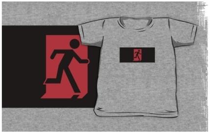 Running Man Exit Sign Kids T-Shirt 127
