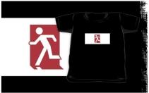 Running Man Exit Sign Kids T-Shirt 128