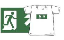 Running Man Exit Sign Kids T-Shirt 2
