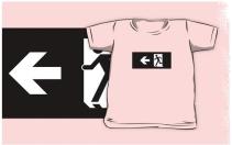 Running Man Exit Sign Kids T-Shirt 21