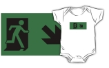 Running Man Exit Sign Kids T-Shirt 22