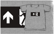 Running Man Exit Sign Kids T-Shirt 23