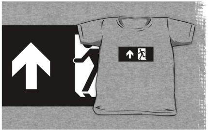 Running Man Exit Sign Kids T-Shirt 23
